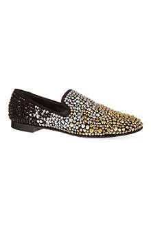 GIUSEPPE ZANOTTI Mix crystal slippers