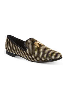 GIUSEPPE ZANOTTI Studded sharktooth slippers