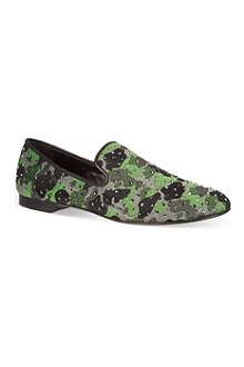 GIUSEPPE ZANOTTI Camo stud slipper