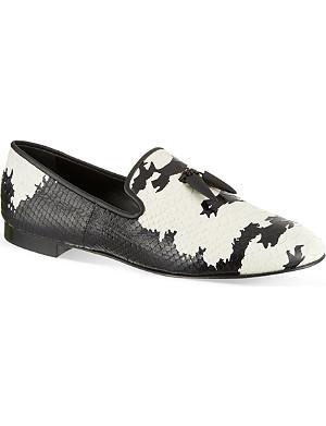 GIUSEPPE ZANOTTI Python print sharktooth shoes