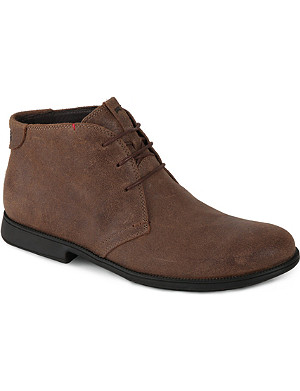 CAMPER Leather contrast stitch boots
