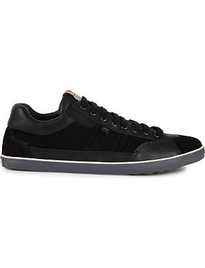 CAMPER Contrast suede and leather trainers