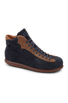 CAMPER Lace-up suede ankle boots