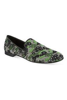GIUSEPPE ZANOTTI Camo stud slippers