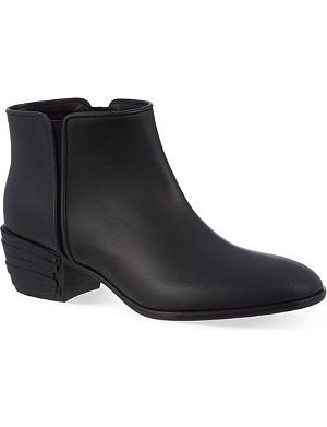 GIUSEPPE ZANOTTI Block-heel leather ankle boots