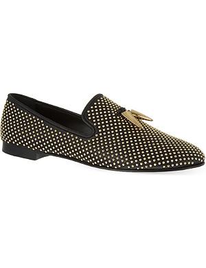GIUSEPPE ZANOTTI Diamond shark slippers