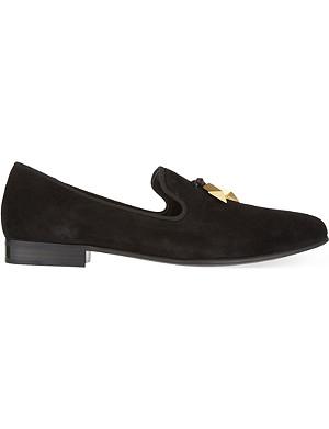 GIUSEPPE ZANOTTI Arrow suede slippers