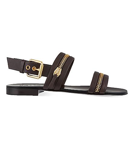GIUSEPPE ZANOTTI Zip strap sandals (Brown