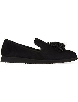 GIUSEPPE ZANOTTI Wedge tassle slippers