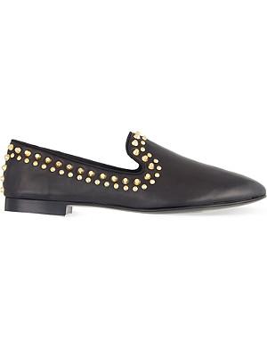 GIUSEPPE ZANOTTI Stud trim slippers
