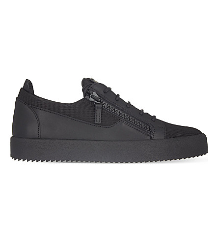 GIUSEPPE ZANOTTI Ballistic zip low-top trainers (Black