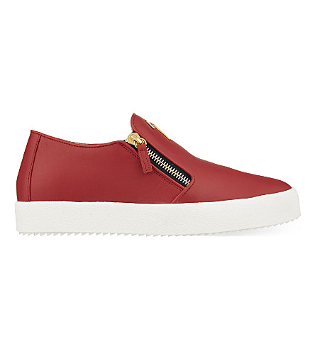 GIUSEPPE ZANOTTI Logo skate shoes (Red/other