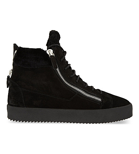 GIUSEPPE ZANOTTI Zip Sheerling high top sneakers (Black
