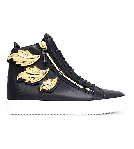 GIUSEPPE ZANOTTI Kanye Wing leather high-top trainers (Black
