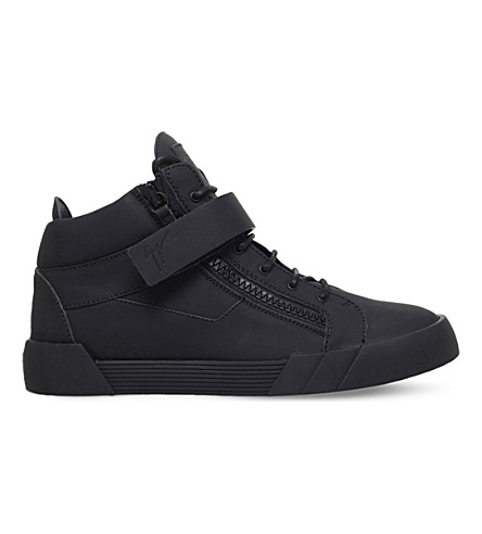 GIUSEPPE ZANOTTI The Shark 3.0 leather trainers (Black