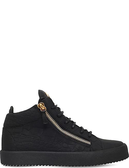 GIUSEPPE ZANOTTI Kriss matte crocodile-effect leather sneakers