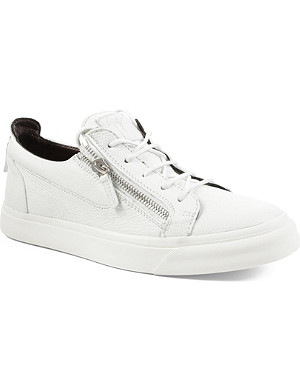 GIUSEPPE ZANOTTI Zip-low leather trainers