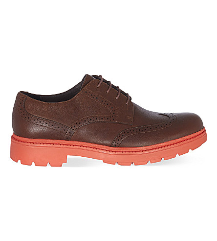 CAMPER Hardwood derby shoes (Mid+brown