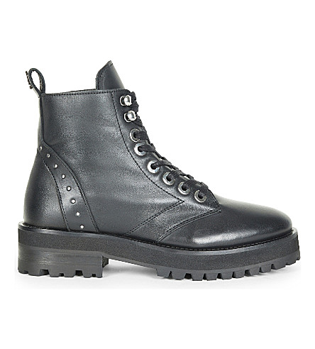 THE KOOPLES Rangers studded leather biker boots (Bla01