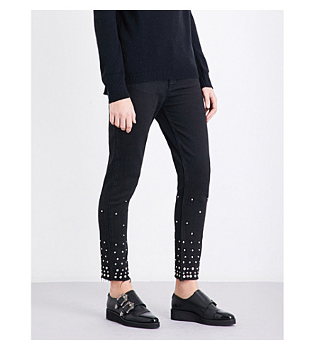 THE KOOPLES Jimmy studded skinny mid-rise jeans (Bla55