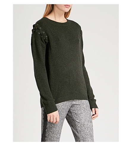 THE KOOPLES Braided wool and cashmere-blend jumper (Kak01