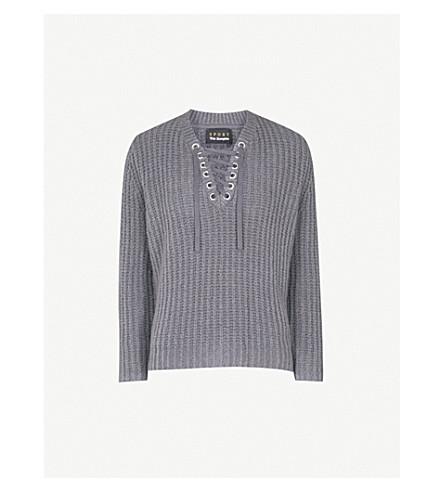 THE KOOPLES Lila wool-blend jumper (Gry23