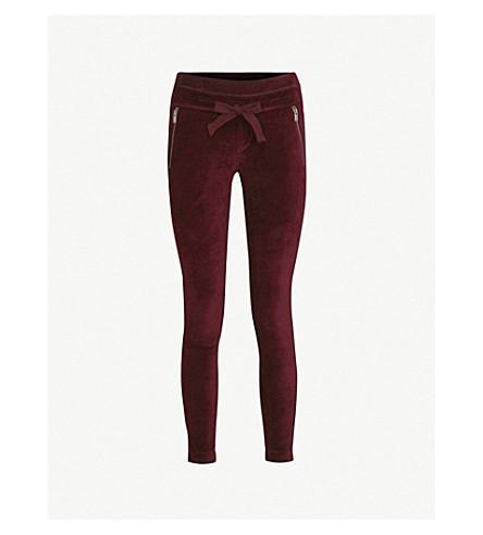 THE KOOPLES Tapered-leg velvet jogging bottoms (Red08
