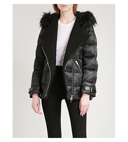 THE KOOPLES Biker-style shell padded jacket (Bla01