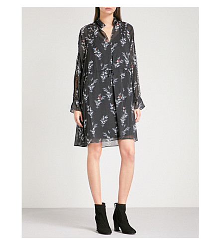 THE KOOPLES Rossignol-print crepe dress (Bla01