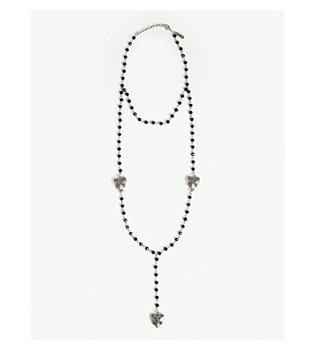 THE KOOPLES Pearl and heart necklace (Bla01
