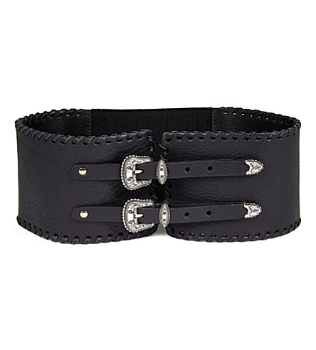THE KOOPLES Corset leather belt (Black