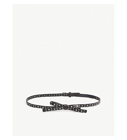 THE KOOPLES Bow studded leather belt (Bla01
