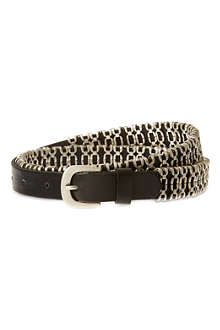 THE KOOPLES Chain-link leather belt