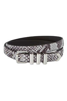 THE KOOPLES Snakeskin leather belt