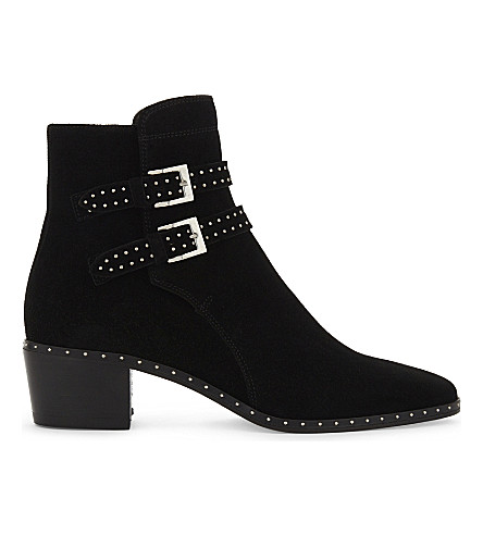 THE KOOPLES Studded suede ankle boots (Bla01