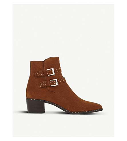 THE KOOPLES Studded suede ankle boots (Cog01