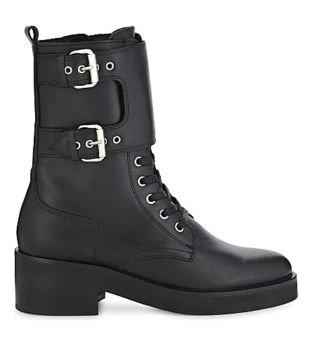 THE KOOPLES Double Buckle leather boots (Bla01