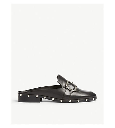 THE KOOPLES Embellished leather mules (Bla01