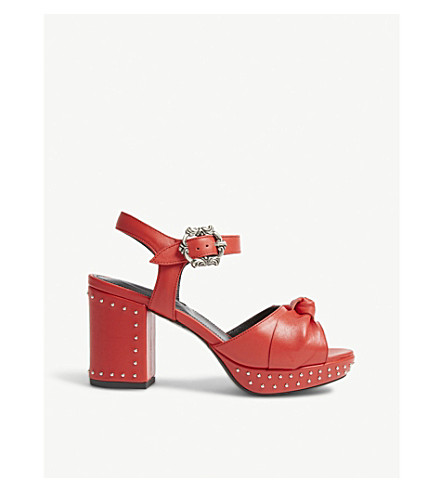 THE Studded leather leather KOOPLES KOOPLES KOOPLES sandals Studded Studded THE sandals Red01 sandals Red01 Red01 THE leather rASqrfwn