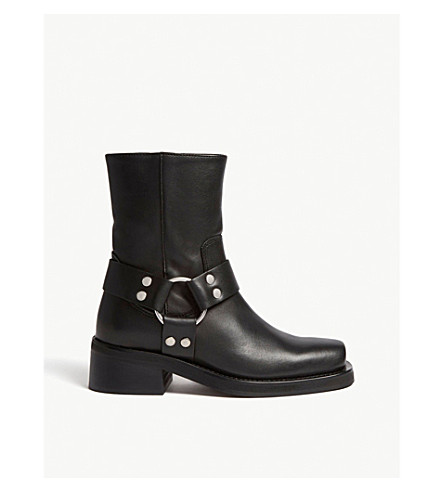 THE KOOPLES Ringlet detail leather boots (Bla01