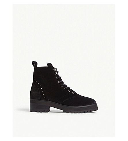 THE KOOPLES Velvet ranger boots (Bla01
