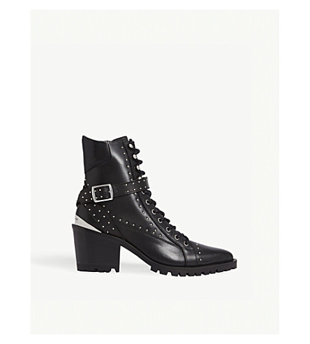 THE KOOPLES Steffy leather high-top boots (Bla01