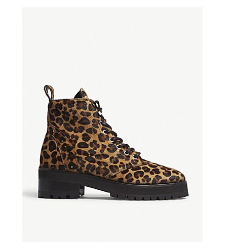 THE KOOPLES Leopard-print pony-hair boots (Leo01