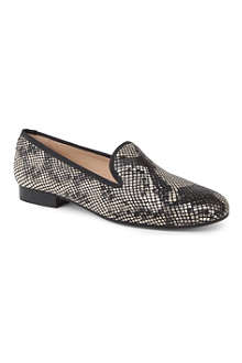 THE KOOPLES Snake-print slippers