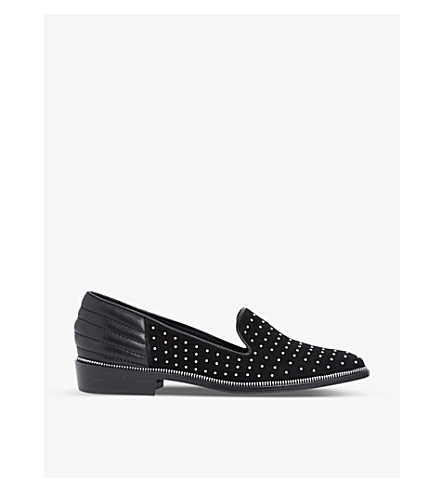 THE KOOPLES Studded suede slippers (Bla01