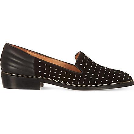 THE KOOPLES Suede stud slippers (Black