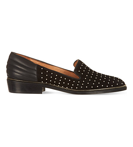 THE KOOPLES Suede stud slippers (Black