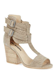 THE KOOPLES Suede snake-embossed sandals