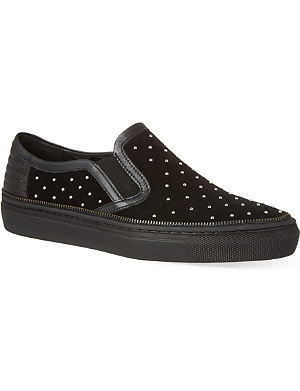 THE KOOPLES SPORT Split leather and stud sneakers