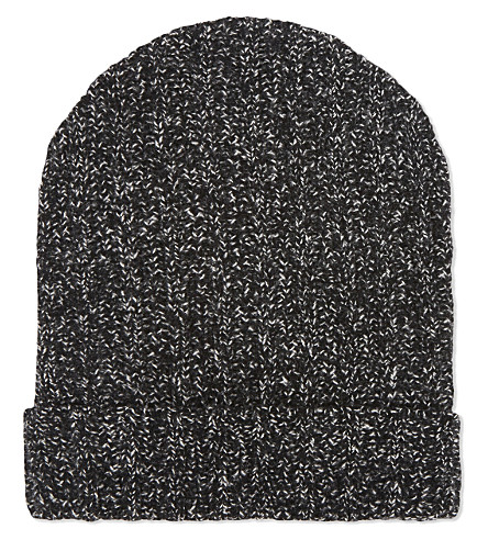 THE KOOPLES Knitted wool-cashmere beanie (Black / white